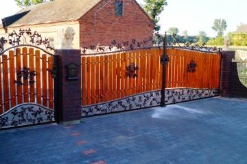 Ogrodzenie metalowo-drewniane 14
