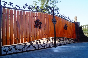 Ogrodzenie metalowo-drewniane 14-2