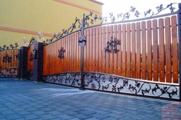 Ogrodzenie metalowo-drewniane 14-3