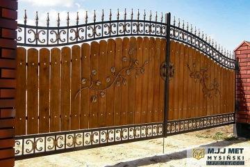 Ogrodzenie metalowo-drewniane 10