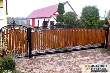 Ogrodzenie metalowo-drewniane 12