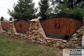 Ogrodzenie metalowo-drewniane 1