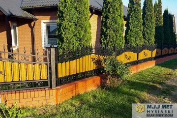 Ogrodzenie metalowo-drewniane 3