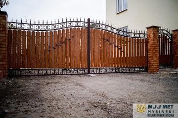 Ogrodzenie metalowo-drewniane 4
