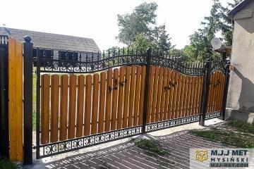 Ogrodzenie metalowo-drewniane 5