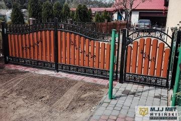Ogrodzenie metalowo-drewniane 6