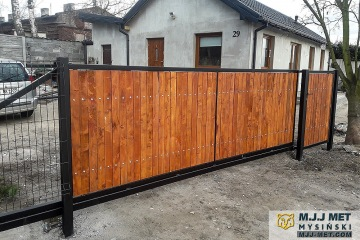 Ogrodzenie metalowo-drewniane 7