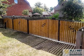 Ogrodzenie metalowo-drewniane 8