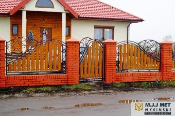 Ogrodzenie metalowo-drewniane 9